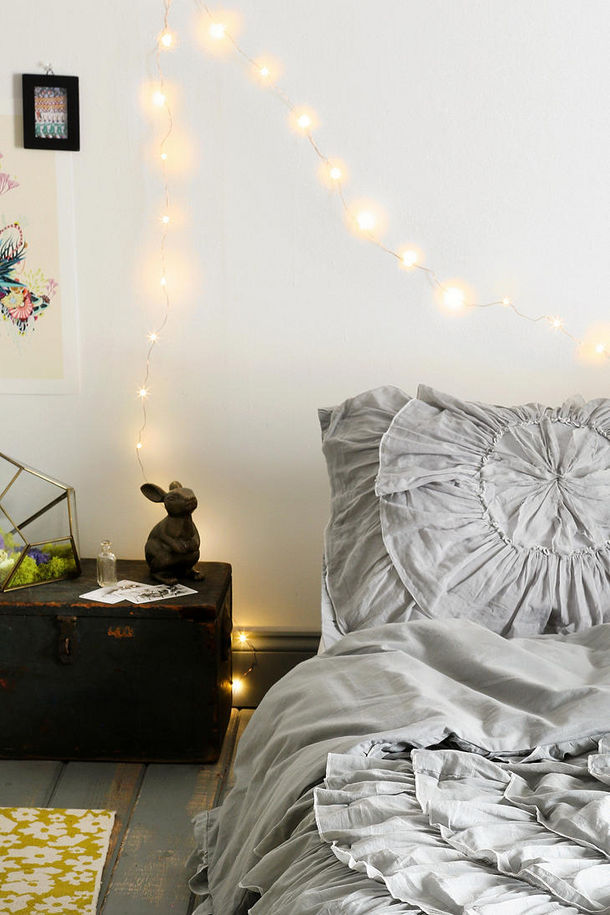 firefly string lights these tiny string lights on a delicate. Black Bedroom Furniture Sets. Home Design Ideas