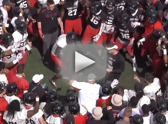 Texas Tech Football Players Kick Off Practice with Epic Dance Off Texas Tech Practice Players Kick Football Epic DanceOff