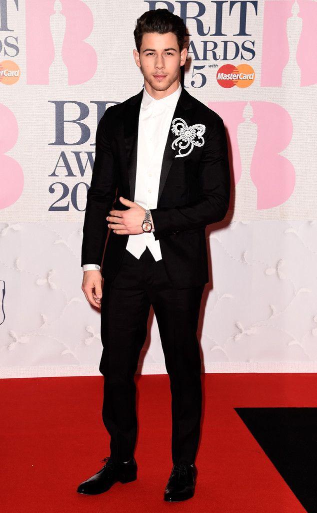 That's some boutonniere Nick Jonas! celebrities