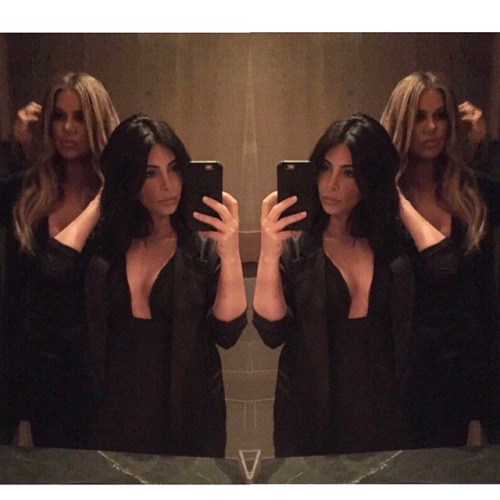 jenatkinhair:Last Nights Party @khloekardashian @kimkardashian... celebrity