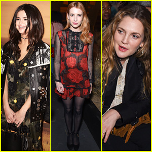 Selena Gomez Sits Front Row at Coach's NYFW Show with Drew Barrymore & Emma Roberts!
